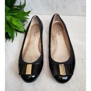 Kate Spade Black Patent Ballet Flats